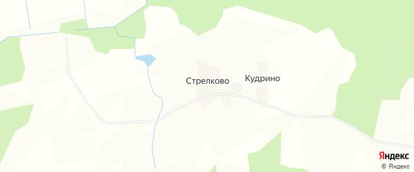 Карта деревни Стрелково в Кировской области с улицами и номерами домов