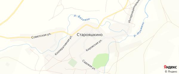 Карта села Старояшкино в Оренбургской области с улицами и номерами домов
