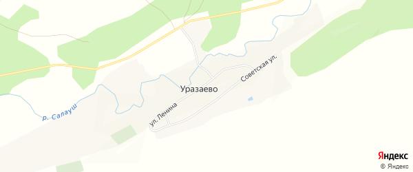 Карта деревни Уразаево в Татарстане с улицами и номерами домов