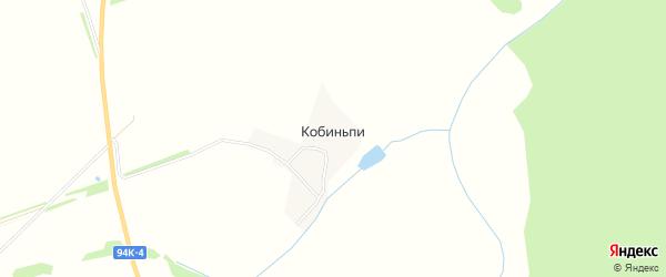 Карта деревни Кобиньпи в Удмуртии с улицами и номерами домов
