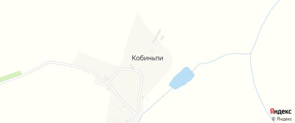 Улица Мира на карте деревни Кобиньпи Удмуртии с номерами домов