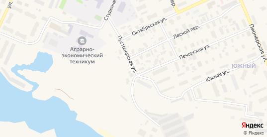 Пустозерская улица в Нарьяне-Маре с номерами домов на карте. Спутник и схема онлайн