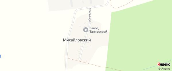 Логовая улица на карте Михайловского починка Удмуртии с номерами домов