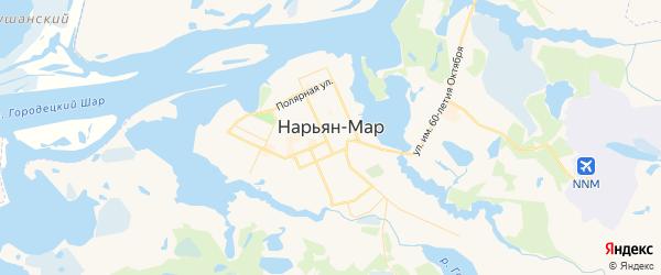 Карта Нарьяна-Мара с районами, улицами и номерами домов