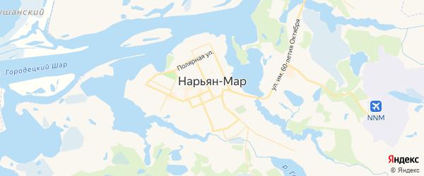 Карта Нарьяна-Мара с районами, улицами и номерами домов: Нарьян-Мар на карте России