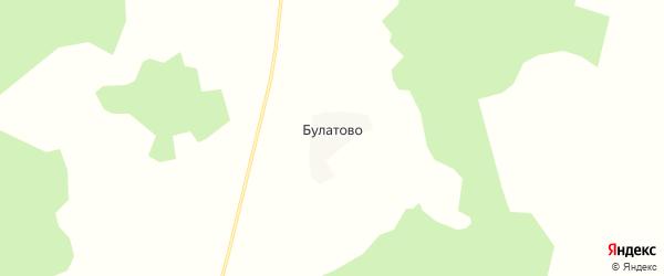 Карта деревни Булатово в Кировской области с улицами и номерами домов