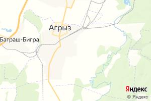 Карта г. Агрыз Республика Татарстан