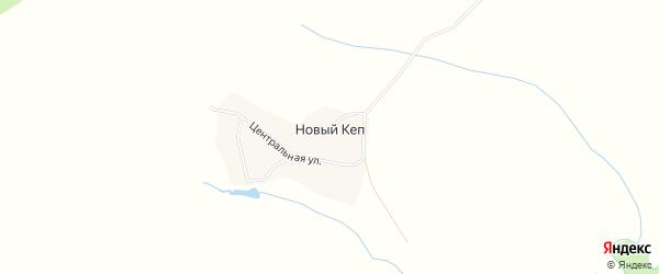 Карта деревни Нового Кепа в Удмуртии с улицами и номерами домов