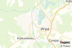 Карта пгт Игра Удмуртская Республика