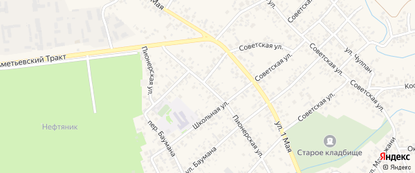 Пионерская улица на карте Азнакаево с номерами домов