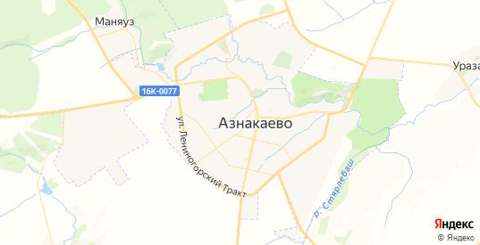 Карта Азнакаево с улицами и домами подробная. Показать со спутника номера домов онлайн