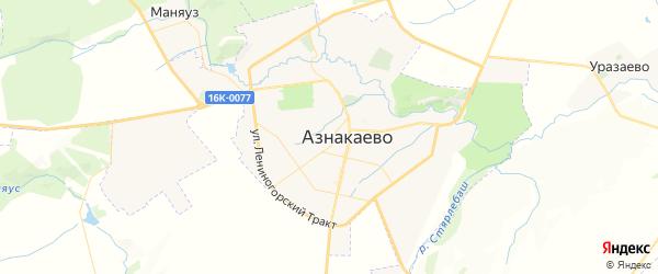 Карта Азнакаево с районами, улицами и номерами домов