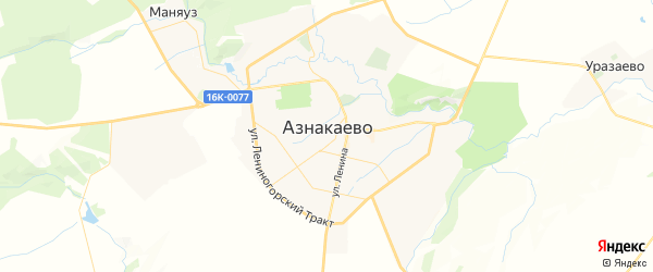 Карта Азнакаево с районами, улицами и номерами домов: Азнакаево на карте России