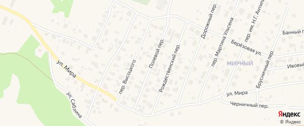 Полевой переулок на карте Нарьяна-Мара с номерами домов