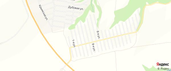 Территория СНТ Вишневый на карте Завьяловского района Удмуртии с номерами домов