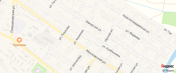 Улица Куйбышева на карте Сорочинска с номерами домов