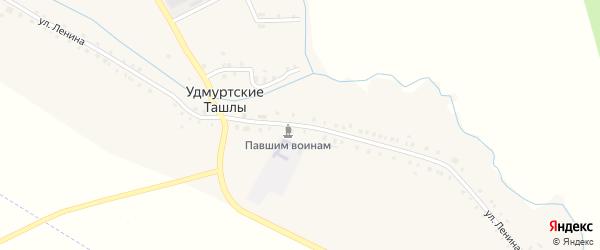 Улица Ленина на карте села Удмуртские Ташлы Татарстана с номерами домов