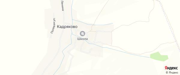 Карта села Кадряково в Татарстане с улицами и номерами домов