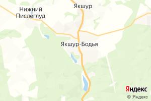 Карта с. Якшур-Бодья Удмуртская Республика