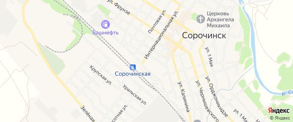 Территория ГСК Гаражный массив 19 на карте Сорочинска с номерами домов