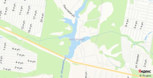 Карта микрорайона Нагорный в Ижевске с улицами, домами и почтовыми отделениями со спутника онлайн