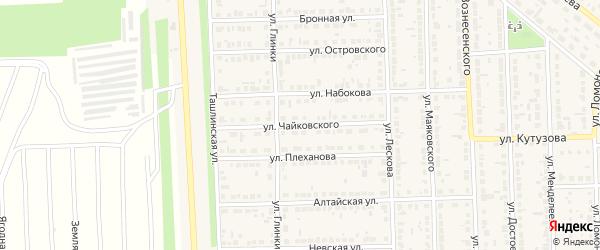 Улица Чайковского на карте Сорочинска с номерами домов