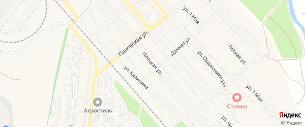 Илецкая улица на карте Сорочинска с номерами домов
