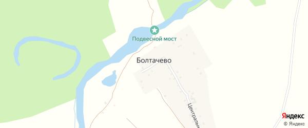 Лесная улица на карте деревни Болтачево Удмуртии с номерами домов