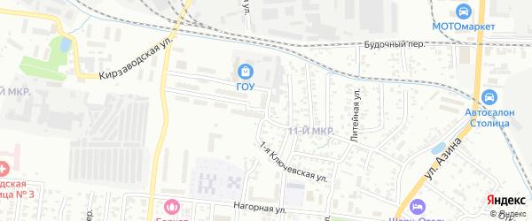 Саратовская улица на карте территории ТСН Крылатского Удмуртии с номерами домов
