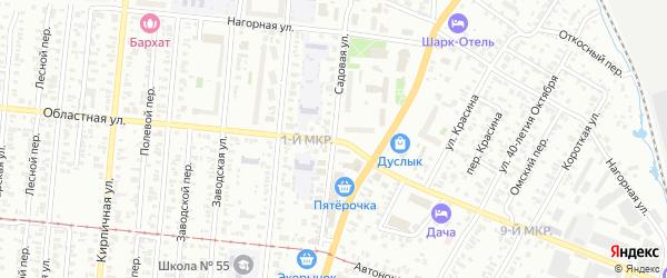 Садовая улица на карте Ижевска с номерами домов