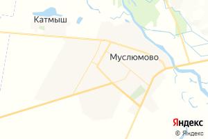 Карта с. Муслюмово Республика Татарстан