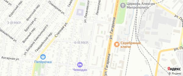 Ленинградская улица на карте Ижевска с номерами домов
