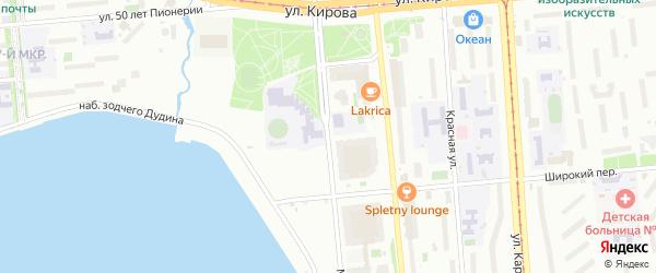 Милиционная улица на карте Ижевска с номерами домов