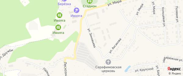 Улица Зиновьева на карте Бавлов с номерами домов