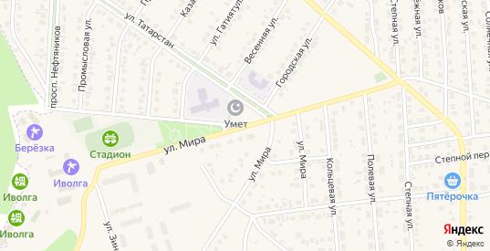 Улица Мира в Бавлах с номерами домов на карте. Спутник и схема онлайн