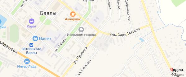 Улица Пушкина на карте Бавлов с номерами домов