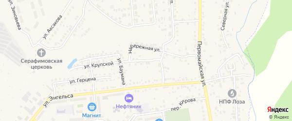 Набережная улица на карте Бавлов с номерами домов