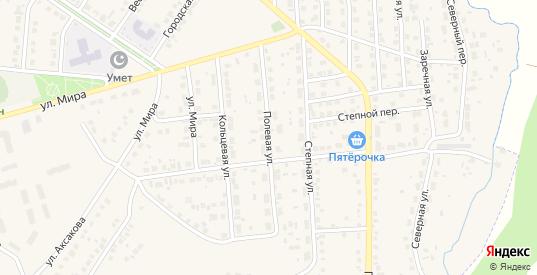 Полевая улица в Бавлах с номерами домов на карте. Спутник и схема онлайн