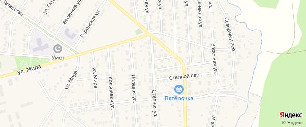 Степная улица на карте Бавлов с номерами домов