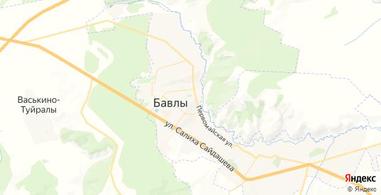 Карта Бавлов с улицами и домами подробная. Показать со спутника номера домов онлайн