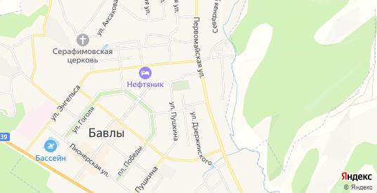 СТ Нефтяник-8 на карте Бавлов с номерами домов