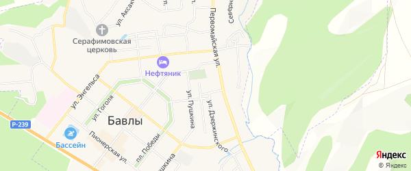 Квартал 33 на карте Бавлов с номерами домов