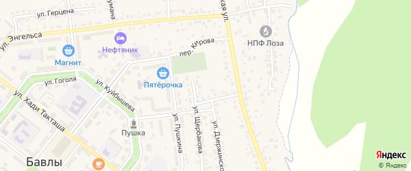 Улица Шарипова на карте Бавлов с номерами домов