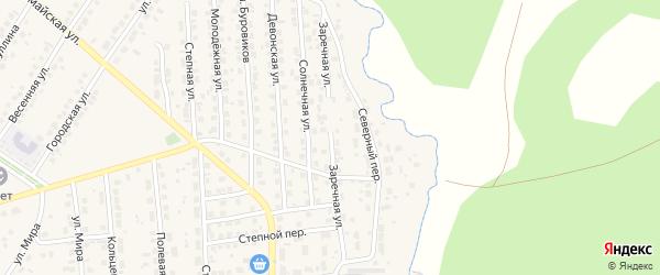 Заречная улица на карте Бавлов с номерами домов