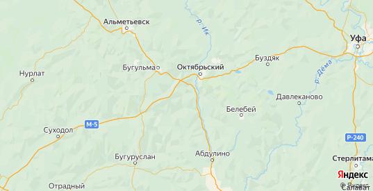 Карта Бавлинского района республики Татарстан с городами и населенными пунктами