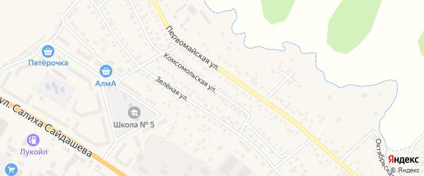 Комсомольская улица на карте Бавлов с номерами домов