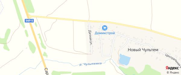 Дачная улица на карте деревни Нового Чультема Удмуртии с номерами домов