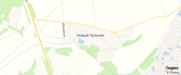 Карта деревни Нового Чультема в Удмуртии с улицами и номерами домов