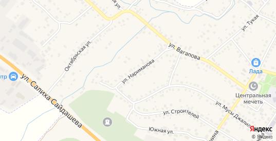 Улица Нариманова в Бавлах с номерами домов на карте. Спутник и схема онлайн