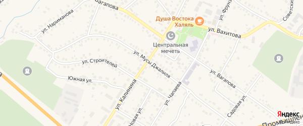 Улица М.Джалиля на карте Бавлов с номерами домов